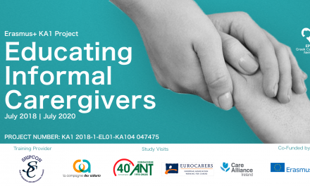 «Educating Informal Caregivers» – The new Erasmus+ KA1 project of EPIONI
